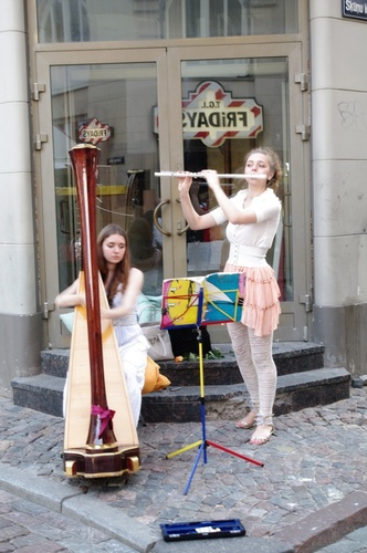 Music fills the streets of the old city