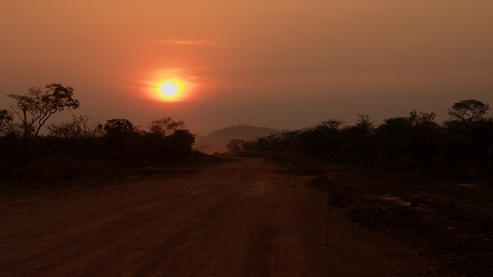 Dusty bush offers beautiful sunsets