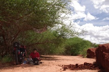 A lunch in a riverbed